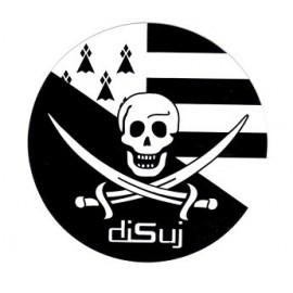Autocollant rond pirate - DISUJ