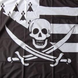 Drapeau pirate breton - en polyester