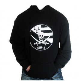 "Sweat à capuche noir ""Pirate Breton"""