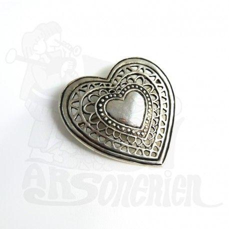 Broche / Pendentif cœur royale