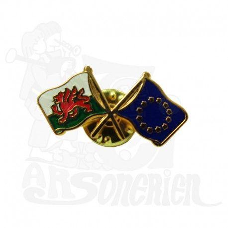 Pin's Drapeau Pays de Galles - Union Européenne