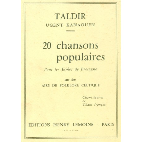 Taldir - Ugent kanaouen - 20 chansons populaires