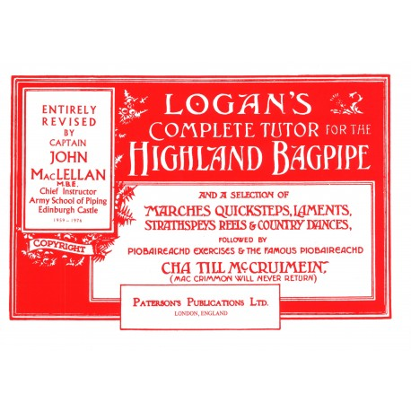 Logan's tutor for the Highland Bagpipe