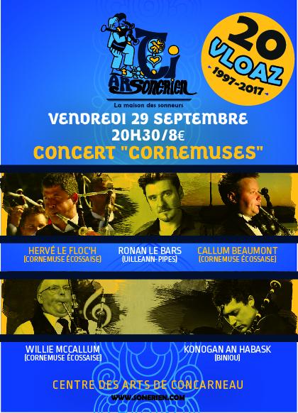 Affiche 20 ans - Concert cornemuses
